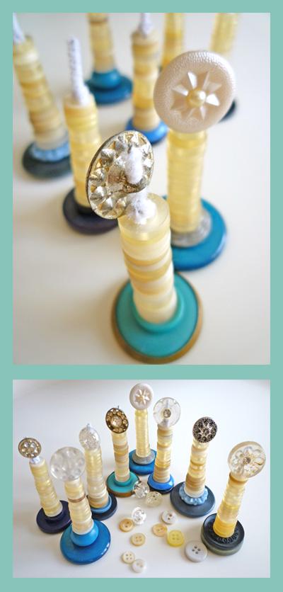 Button Menorah Craft Tutorial (via juniorsociety)