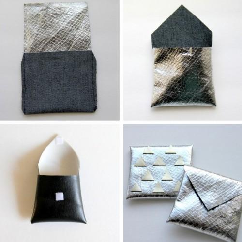 DIY Metallic Envelope Card Holders