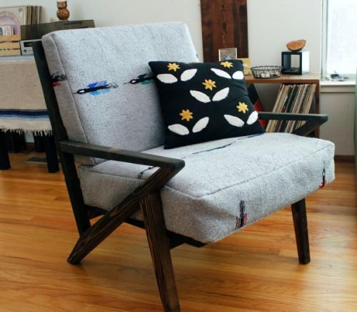 diy mid century modern side chair shelterness. Black Bedroom Furniture Sets. Home Design Ideas
