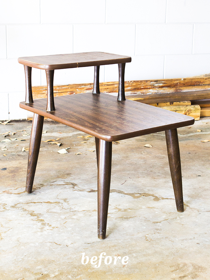 Picture Of diy mid century modern side table  2