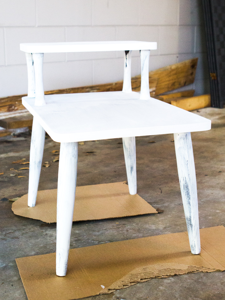 Picture Of diy mid century modern side table  6