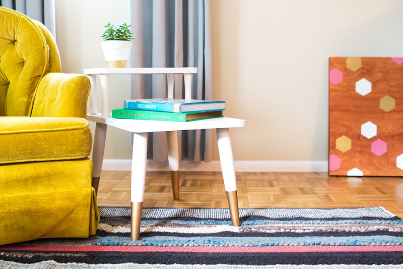 Picture Of diy mid century modern side table  8