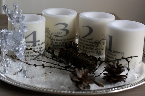 DIY Mini Candles Advent
