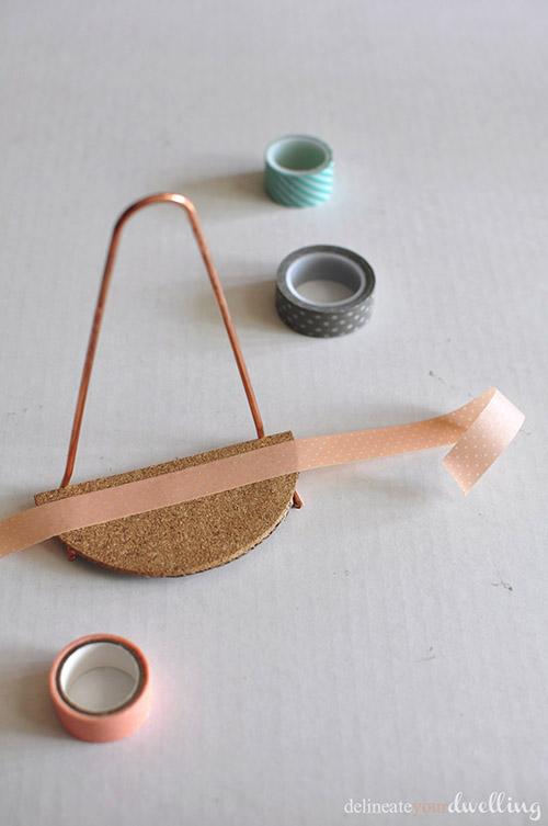 Diy Mini Copper Pipe And Cork Shelves
