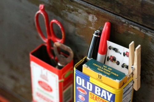 Diy Mini Kitchen Organizers From Spice Tins