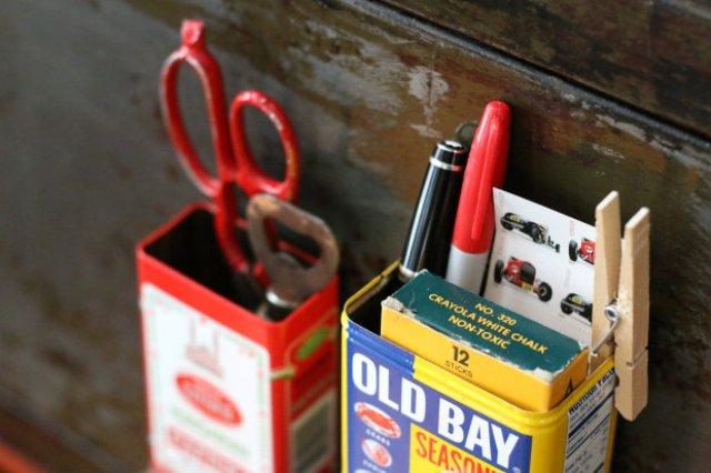 Diy Mini Kitchen Organizers From Spice Tins