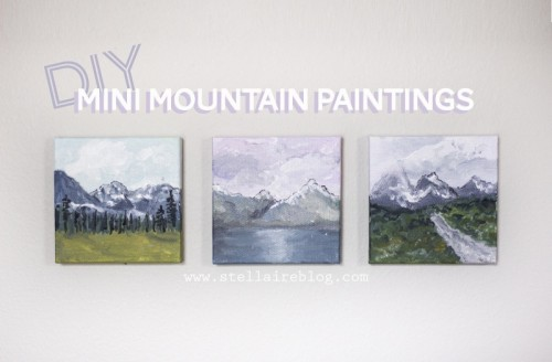 Diy Mini Mountain Paintings For Easy Home Decor Shelterness