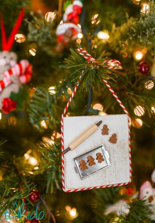 DIY Miniature Gingerbread Baking Christmas Ornament