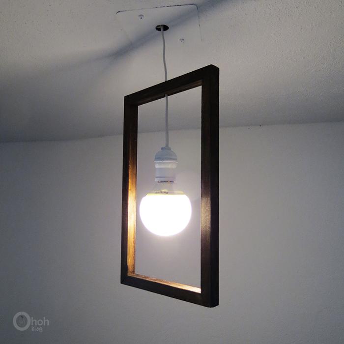 Picture Of diy minimal frame pendant lamp  1