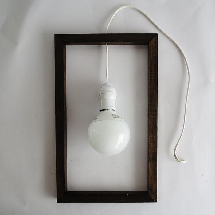 Picture Of diy minimal frame pendant lamp  6