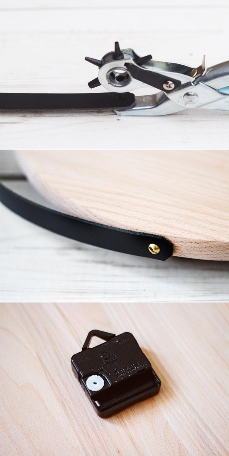 Picture Of diy minimalist wall clock ofoa chopping board  3