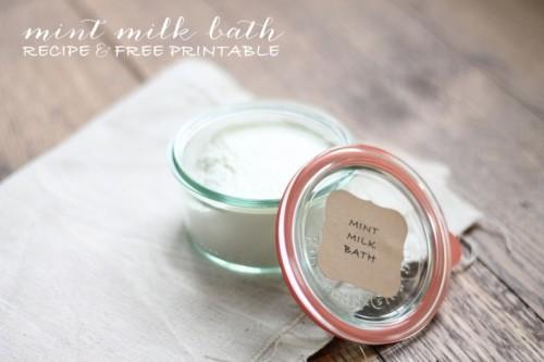 DIY Mint Milk Bath Recipe
