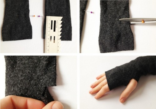 Diy Mittens With Star Space Pattern