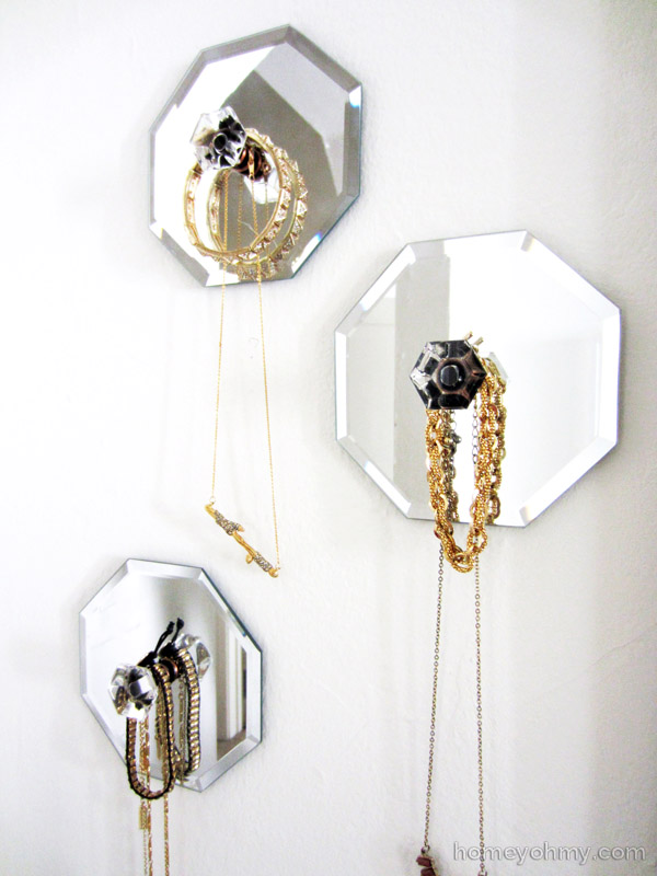 mirror jewelry holders