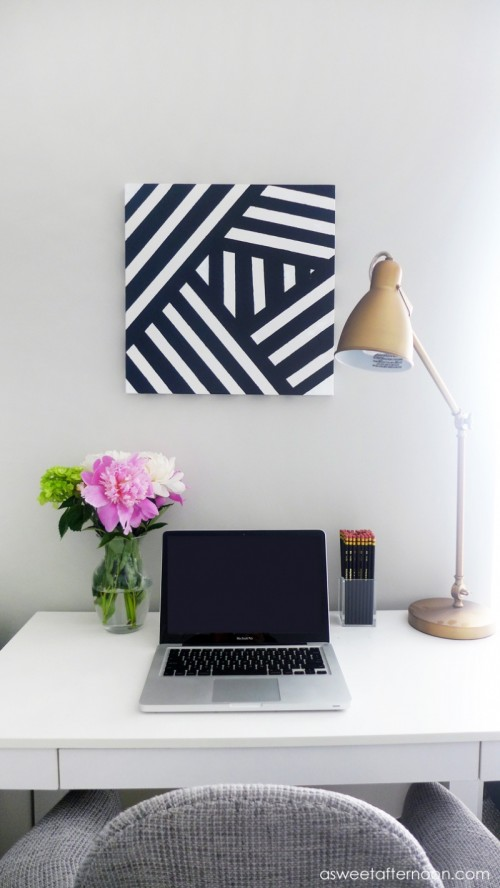 Diy Modern Black And White Abstract Art Shelterness