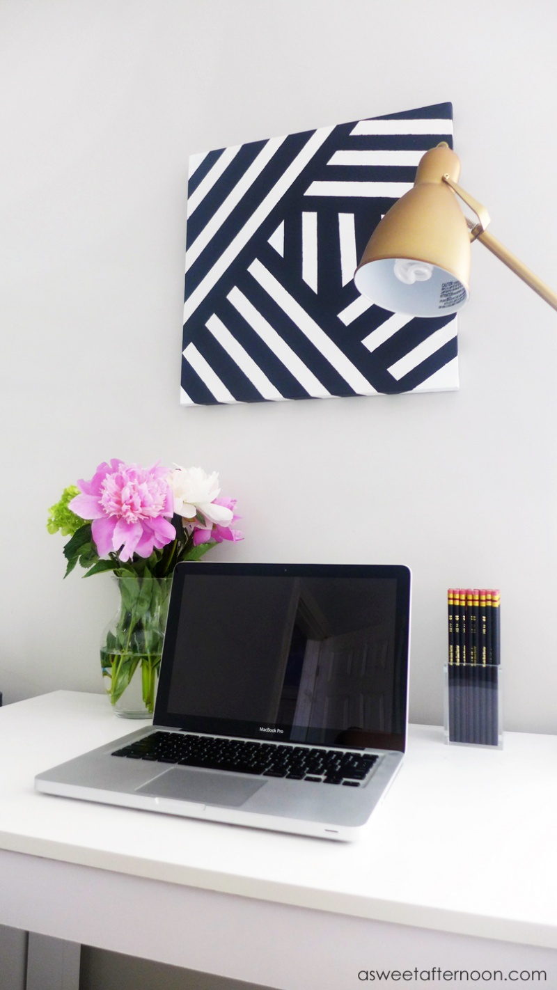 Picture Of diy modern black andwhite abstract art  2