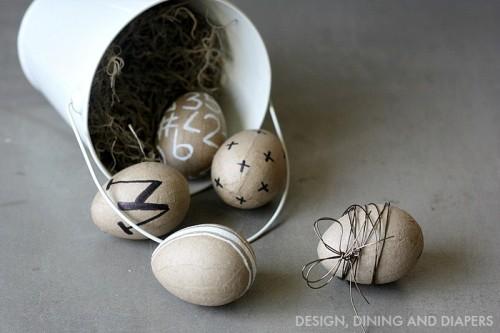 Diy Modern Easter Eggs Of Paper Mache