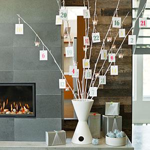 DIY Modern Tree Advent Calendar