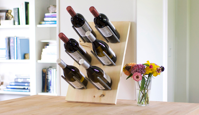 DIY Modern Wine Rack That Doubles As Decor