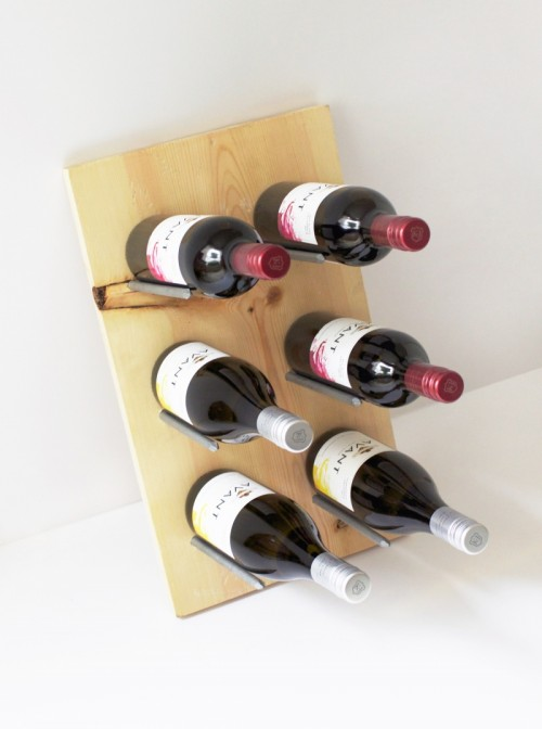 DIY Modern Wine Rack That Doubles As Decor