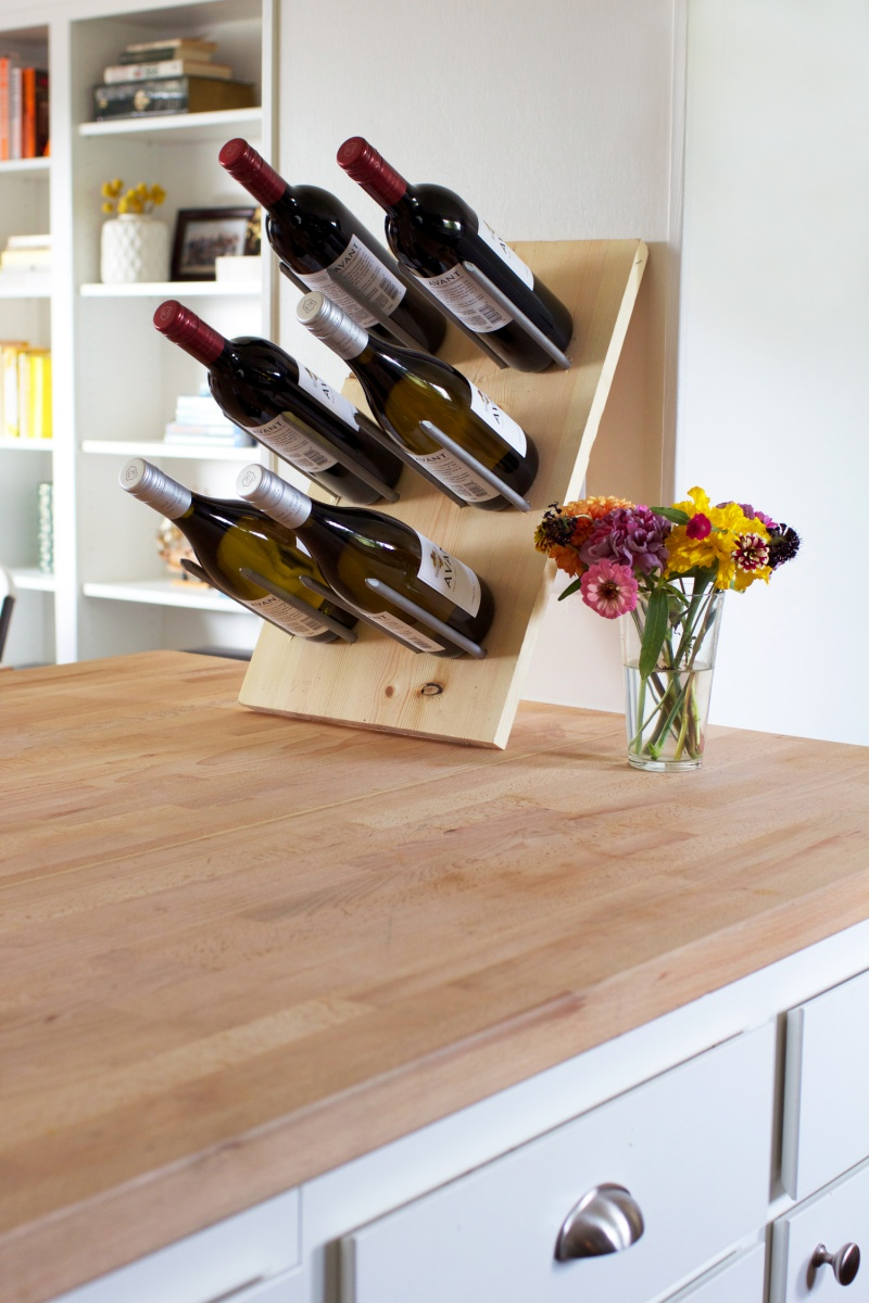 Picture Of diy modern wine rack that doubles as decor  6