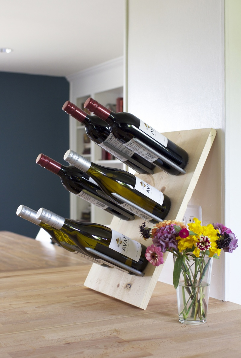 Picture Of diy modern wine rack that doubles as decor  7