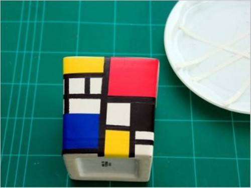 Diy Mondrian Style Bathroom Kit