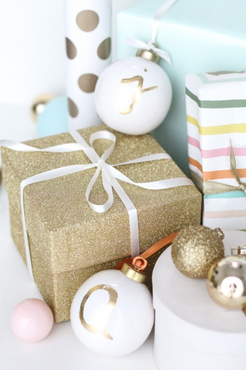 Diy Monogrammed Ornament Gift Tags