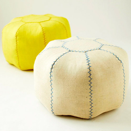 DIY Moroccan-Inspired Pouf