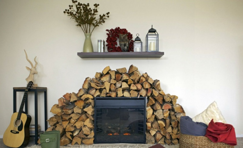 Diy Movable Fireplace