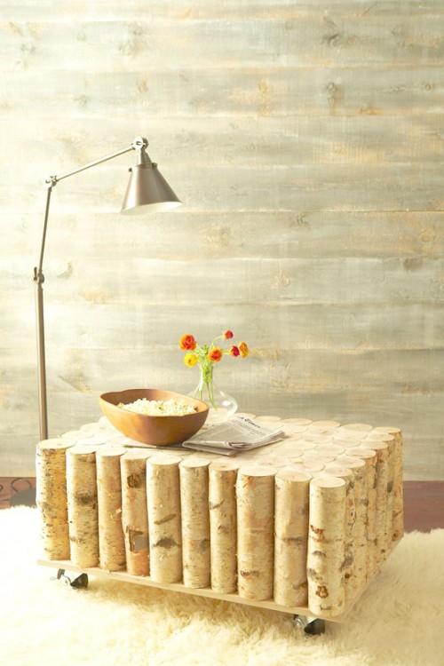 Diy Natural Birch Coffee Table