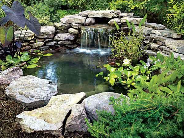 big natural rock pond