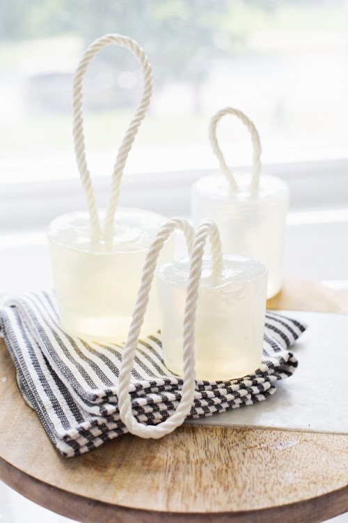 DIY Nautical-Inspired Soap On A Rope