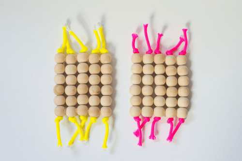 Diy Neon Cord And Bead Coasters
