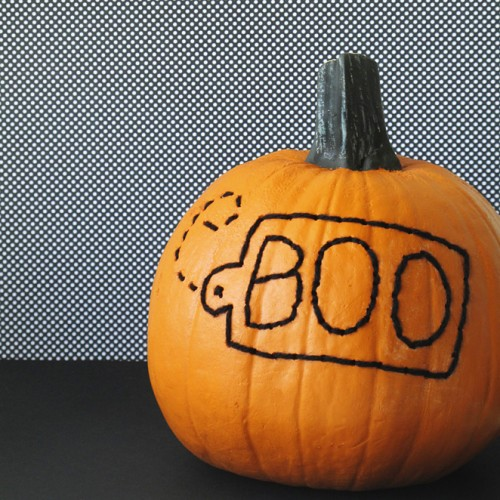 stitched pumpkin (via designeditor)