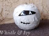 duct tape mummy pumpkin