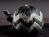 studded black pumpkins