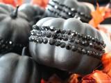 black glam glitter pumpkins