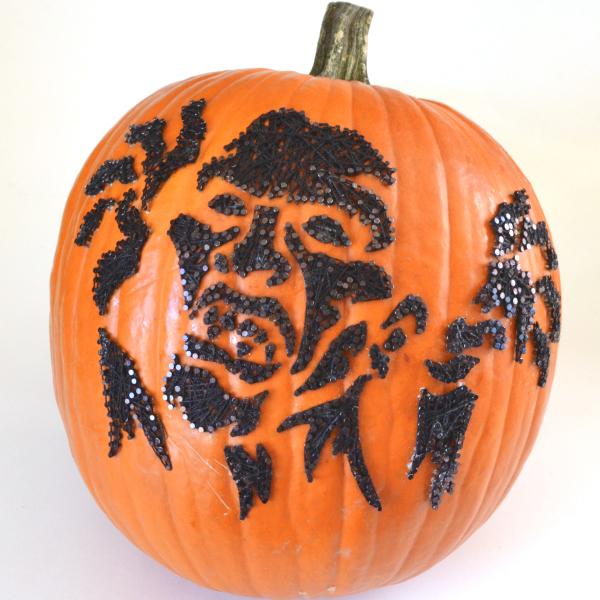 zombie string art pumpkins