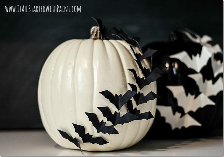 pumpkins with bats