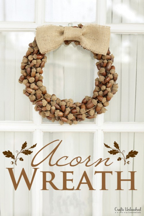acorn fall wreath (via craftsunleashed)