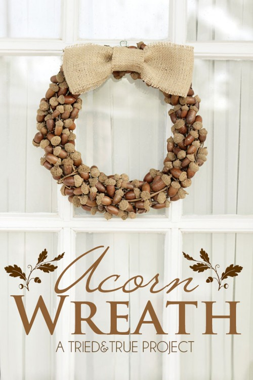 natural acorn wreath (via triedandtrueblog)