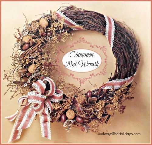 cinnamon and nut wreath (via alwaystheholidays)