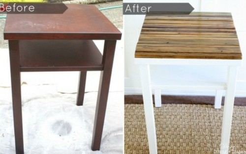 Diy Old Side Table Renovation With Reclaimed Wood