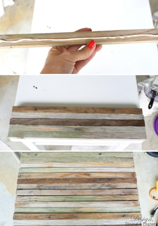 Diy Old Side Table Renovation With Reclaimed Wood | Shelterness