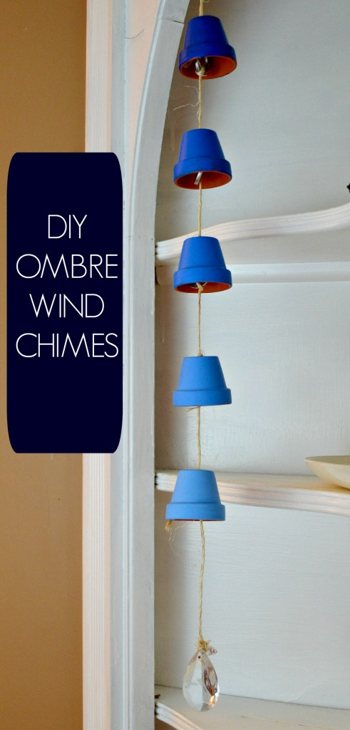 DIY Ombre Wind Chimes From Clay Pots