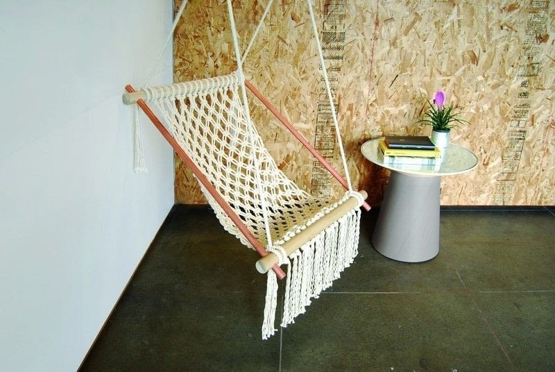 Macrame hanging chair shelterness - Make a macrame hanging chair ...
