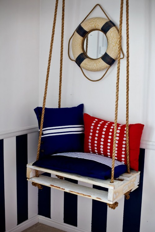 8 diy outdoor and indoor hanging chairs shelterness for Diy indoor swing chair
