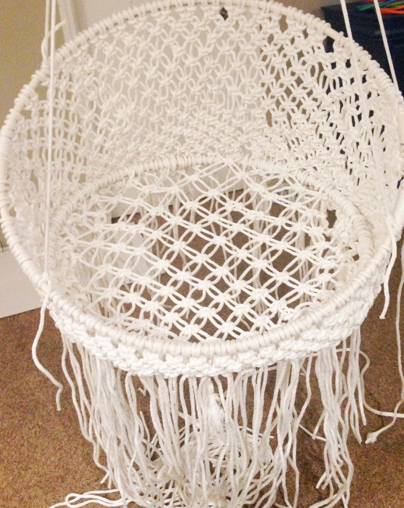 picture of round macrame chair
