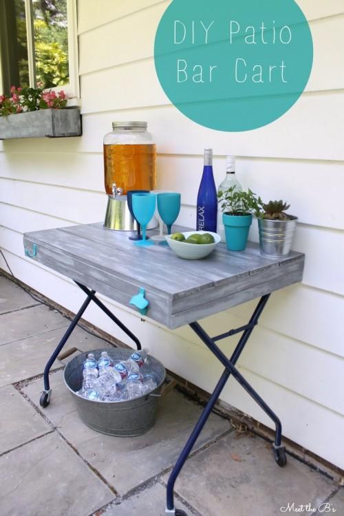 Diy Outdoor Bar Cart Of A Laundry Sorter